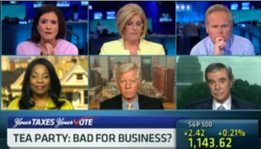 bill george on cnbc discussing the effects of the tea party on business