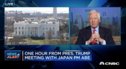 bill george discussing donald trump meeting with japanese prime minister on cnbc