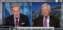 bill george discusses samsung on the nightly business report