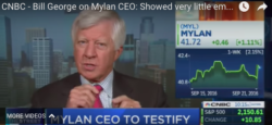 bill george on cnbc discussing the mylan ceo showing very little empathy for the consumer