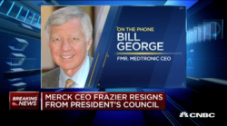 bill george on cnbc extremely disappointed that trump didn't agree with frazier