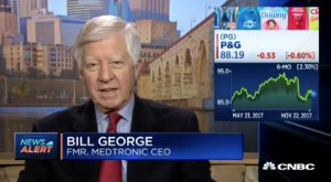 Bill George on CNBC discussing p&g performance