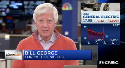 bill george on cnbc discussing GE's transparency