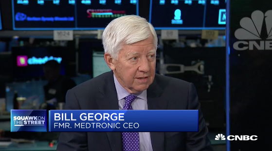 Bill George on CNBC discussing CEO's role in gun control