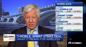 Bill George discusses T-Mobile and Sprint merger on CNBC