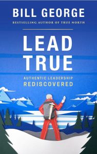 Cover of the eBook Lead True featuring mountain climber using a compass.