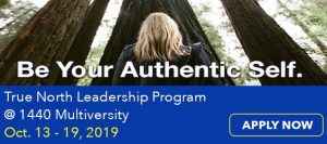 Bill George at 1440 Multiversity's True North Leadership program in 2019