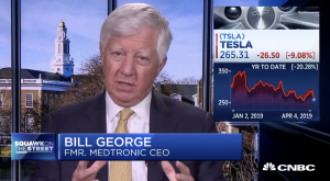 Bill George discusses Tesla on CNBC